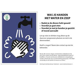 folder handen wassen