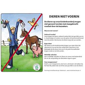 folder dieren niet voeren